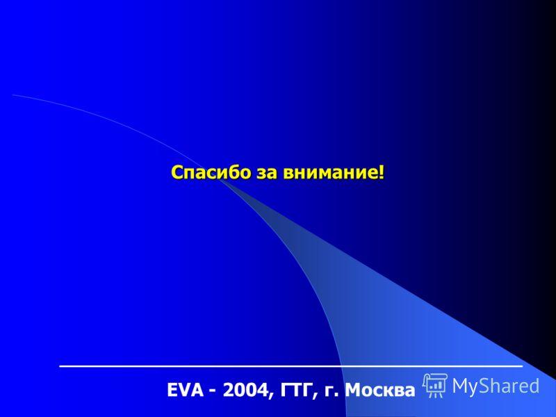EVA - 2004, ГТГ, г. Москва Спасибо за внимание!
