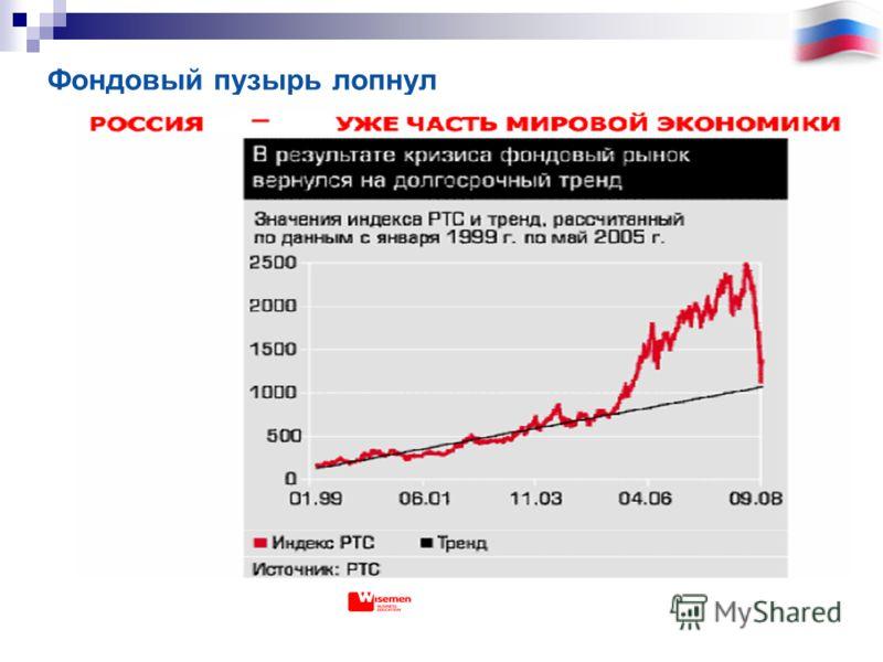 Фондовый пузырь лопнул
