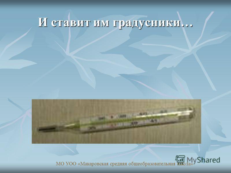 И ставит им градусники… МО УОО «Макаровская средняя общеобразовательная школа»