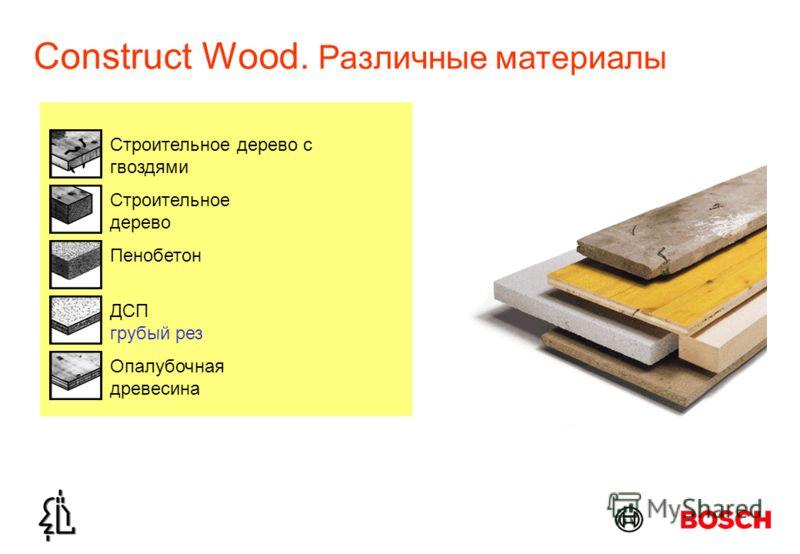 Construct Wood. Различные материалы Строительное дерево Строительное дерево с гвоздями ДСП грубый рез Опалубочная древесина Пенобетон