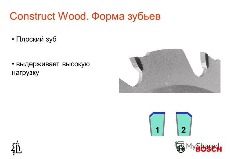 Construct Wood. Форма зубьев Плоский зуб выдерживает высокую нагрузку 21
