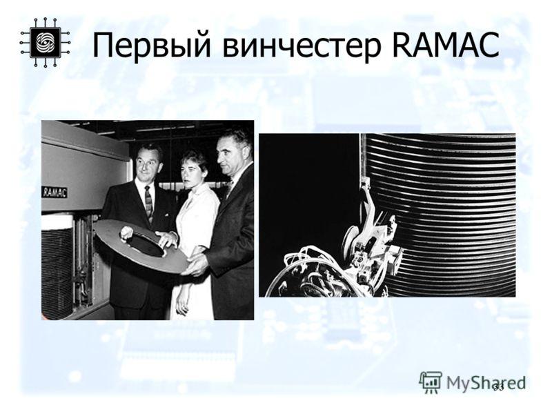 33 Первый винчестер RAMAC