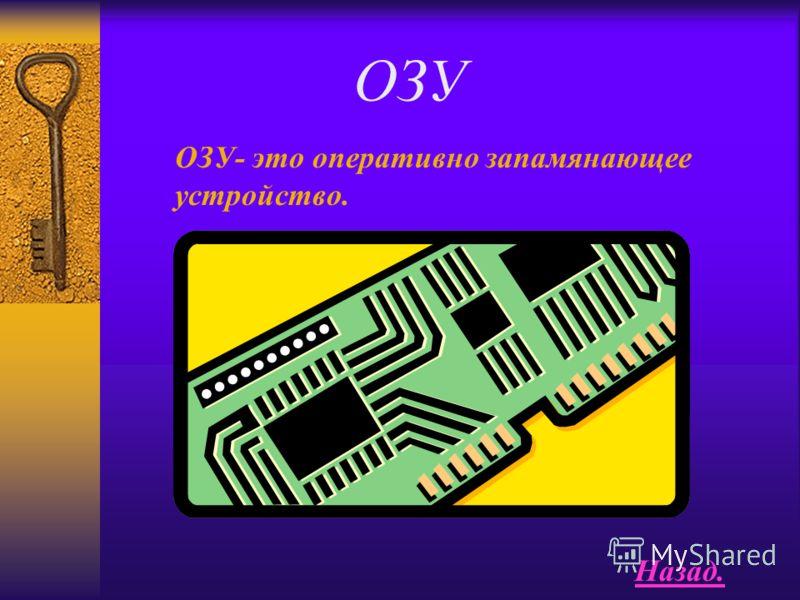 память Память-функциональная часть ЭВМ,предназначенная для при- ема, хранения и выдачи данных. Назад.