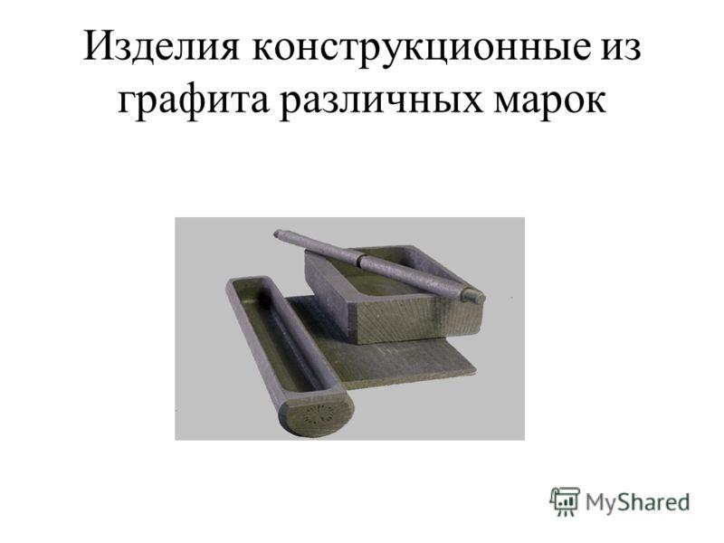 Изделия конструкционные из графита различных марок
