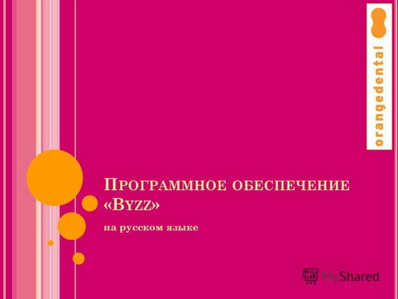 П РОГРАММНОЕ ОБЕСПЕЧЕНИЕ «B YZZ » на русском языке