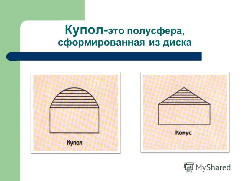 Купол- это полусфера, сформированная из диска
