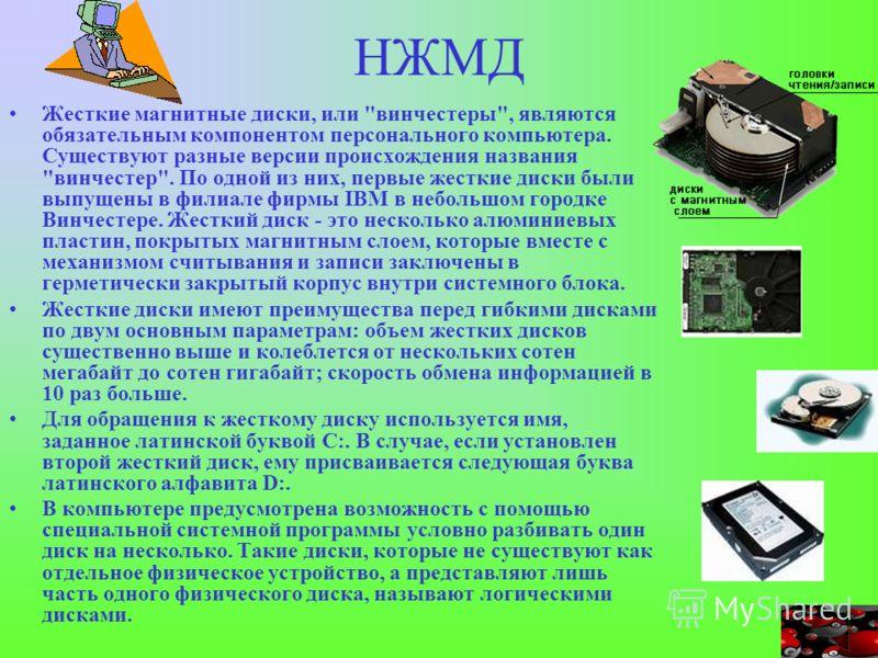 НЖМД Жесткие магнитные диски, или