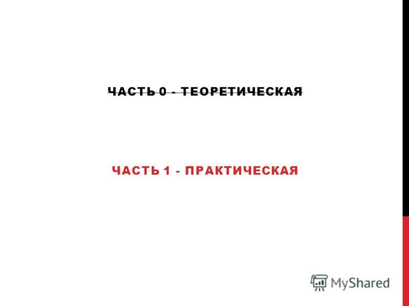 ЧАСТЬ 0 - ТЕОРЕТИЧЕСКАЯ ЧАСТЬ 1 - ПРАКТИЧЕСКАЯ