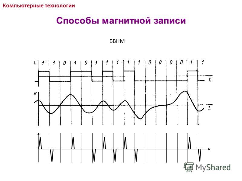 БВНМ Компьютерные технологии Способы магнитной записи