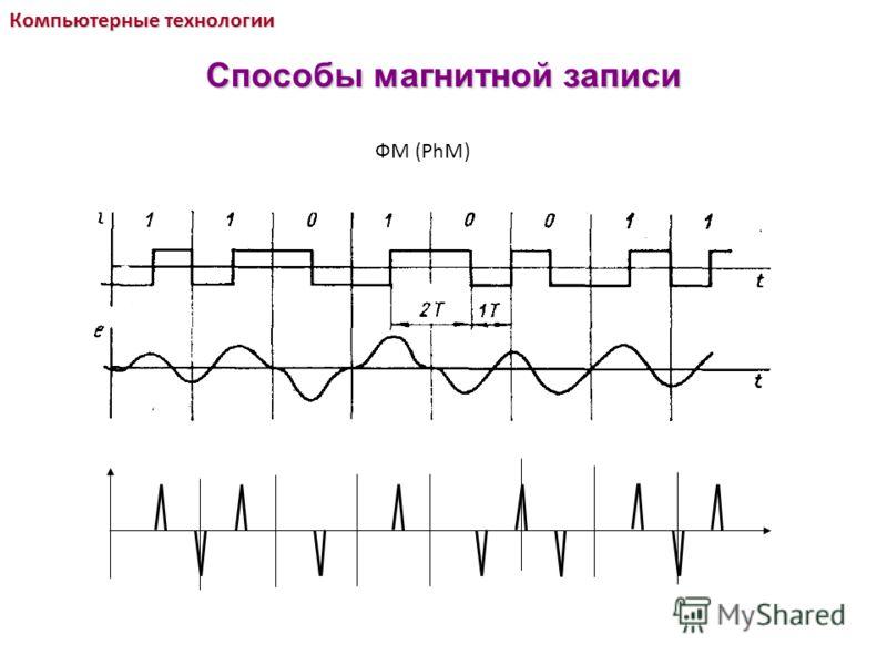 ФМ (PhM) Компьютерные технологии Способы магнитной записи