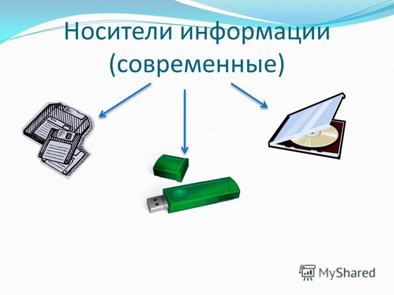 Носители информации (современные)
