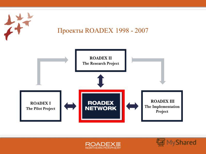 Проекты ROADEX 1998 - 2007