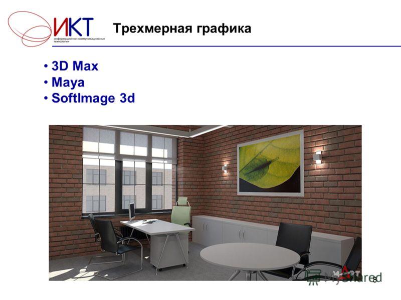 8 Трехмерная графика 3D Max Maya SoftImage 3d