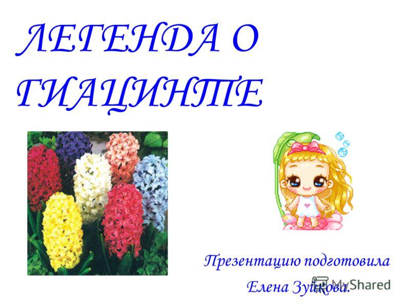 ЛЕГЕНДА О ГИАЦИНТЕ Презентацию подготовила Елена Зуйкова.