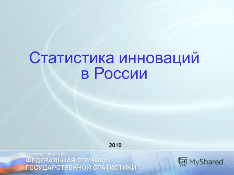 1 Статистика инноваций в России 2010