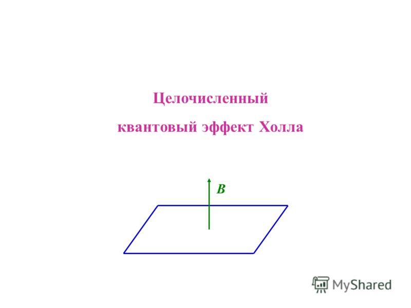 Целочисленный квантовый эффект Холла B