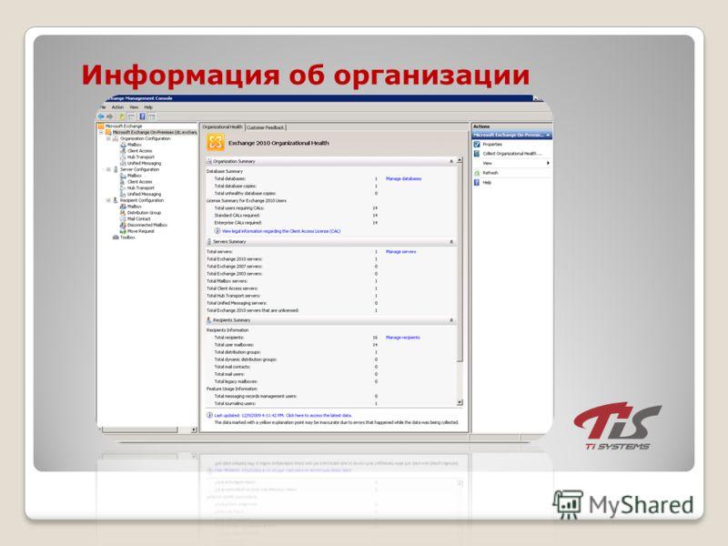 Информация об организации