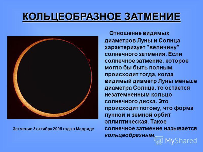 Отношение видимых диаметров Луны и Солнца характеризует