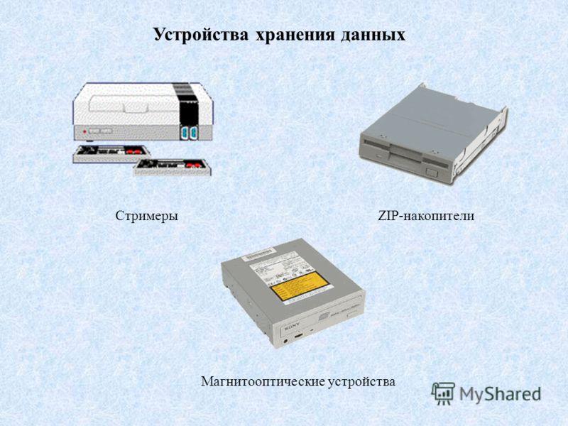 Устройства хранения данных СтримерыZIP-накопители Магнитооптические устройства