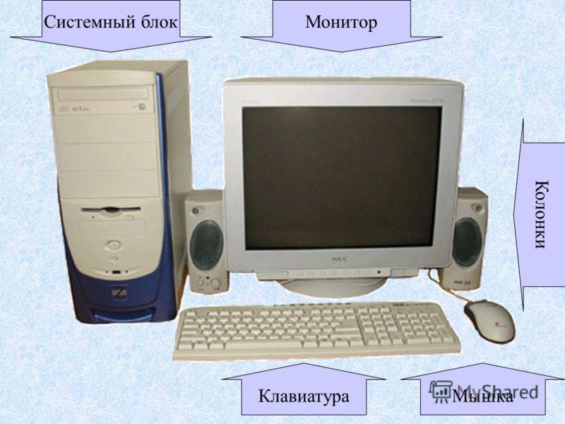 Системный блокМонитор КлавиатураМышка Колонки