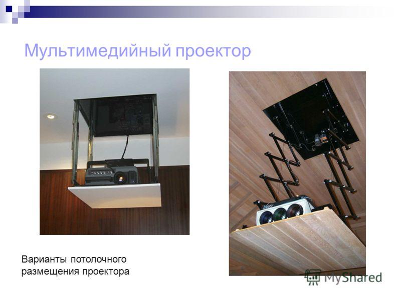Мультимедийный проектор Варианты потолочного размещения проектора