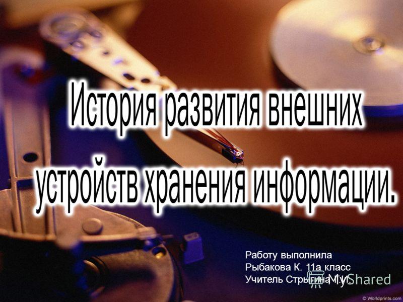 Работу выполнила Рыбакова К. 11а класс Учитель Стрыгина Г.И.