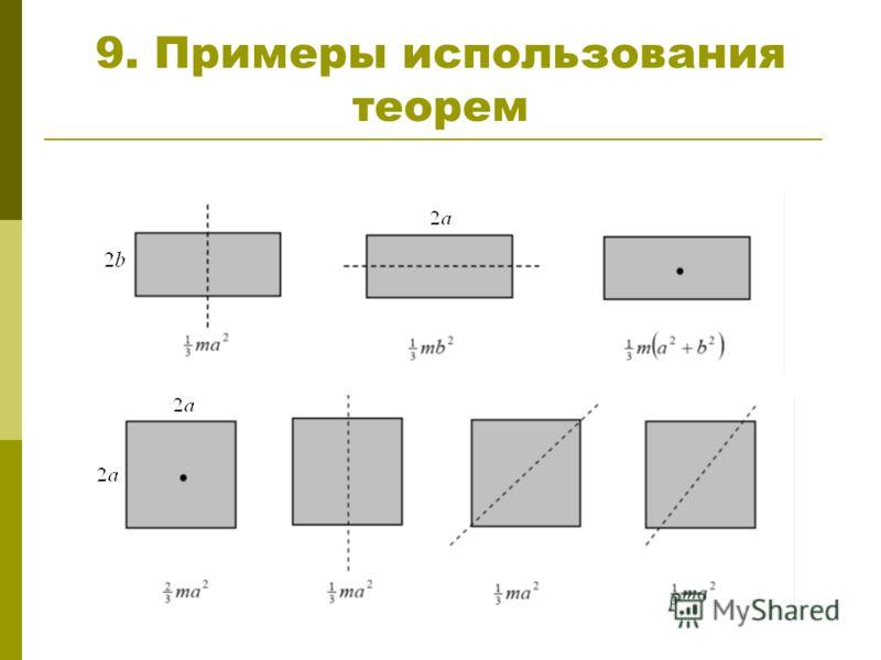 9. Примеры использования теорем