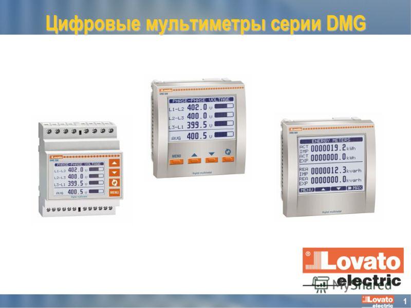 1 Цифровые мультиметры серии DMG