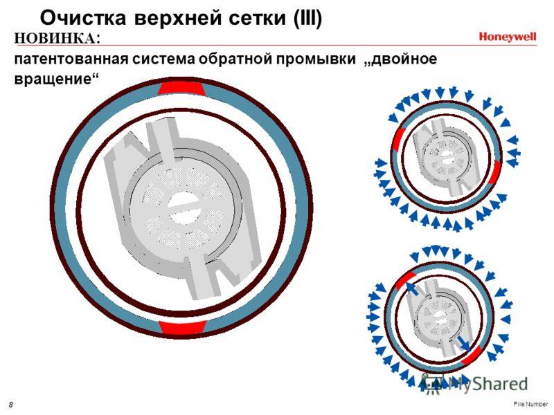 8 File Number НОВИНКА : патентованная система обратной промывки двойное вращение Очистка верхней сетки (III)