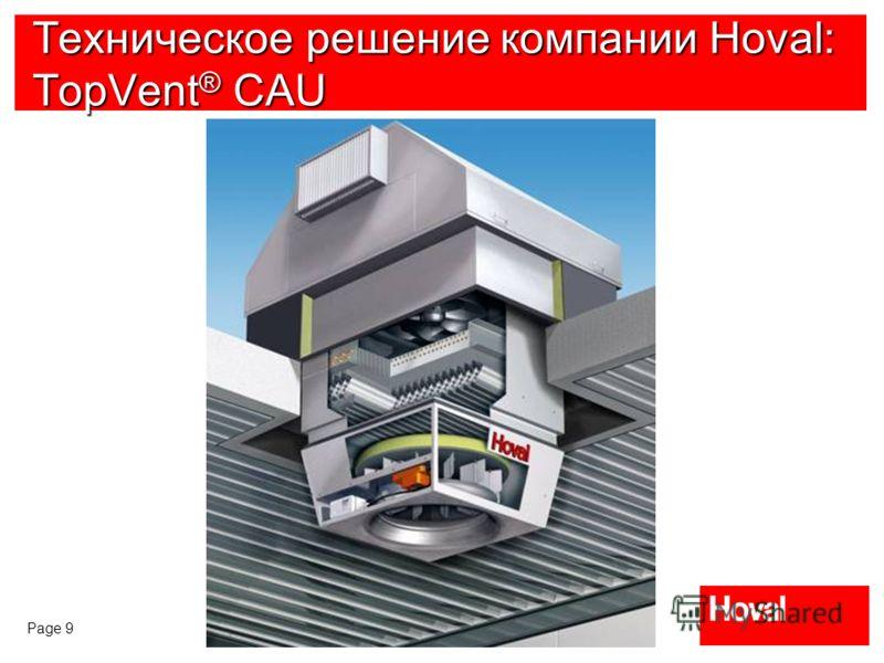 Page 9 Техническое решение компании Hoval: TopVent ® CAU