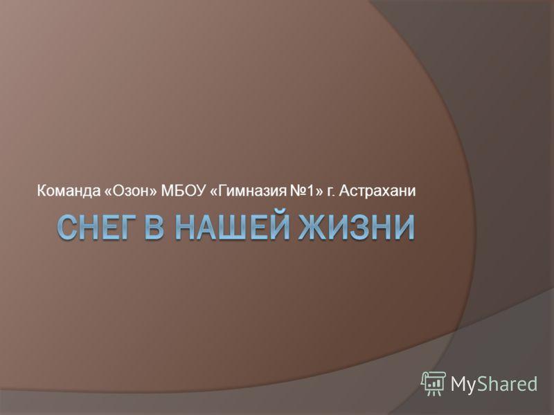 Команда «Озон» МБОУ «Гимназия 1» г. Астрахани