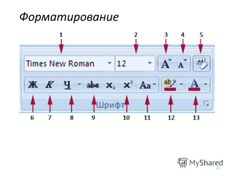 Форматирование 23