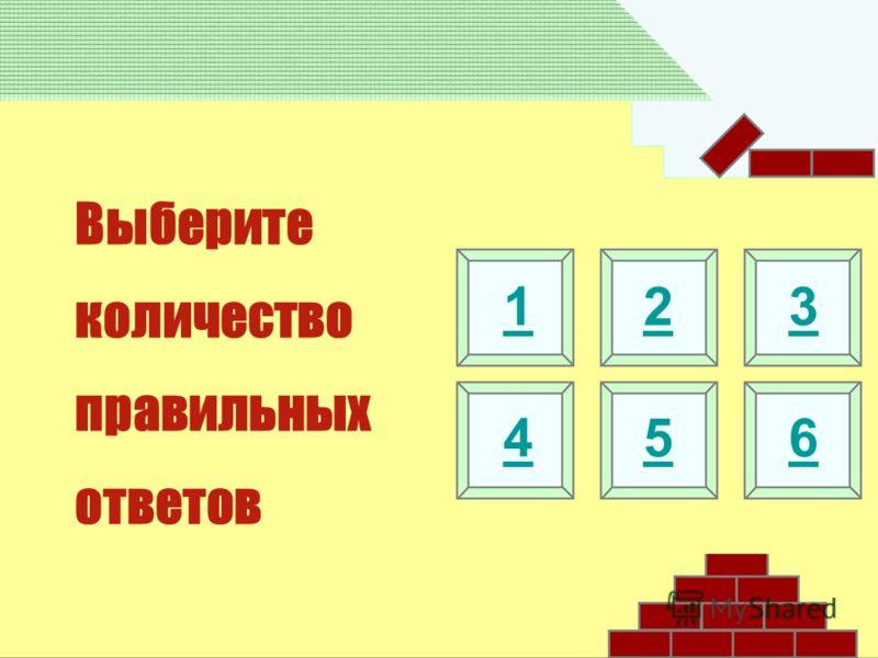 Выберите количество правильных ответов 123 456