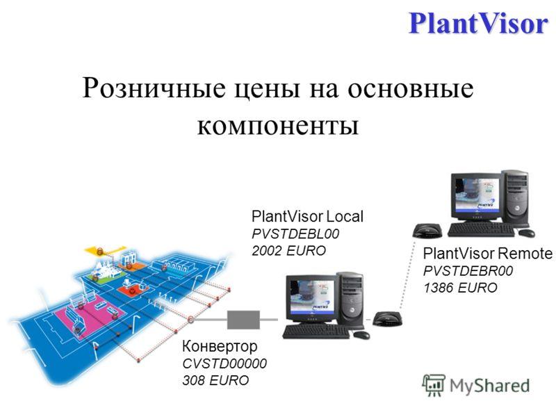 Розничные цены на основные компоненты PlantVisor Local PVSTDEBL00 2002 EUROPlantVisor Конвертор CVSTD00000 308 EURO PlantVisor Remote PVSTDEBR00 1386 EURO