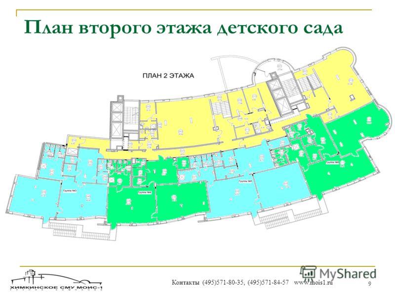 9 План второго этажа детского сада Контакты (495)571-80-35, (495)571-84-57 www.mois1.ru