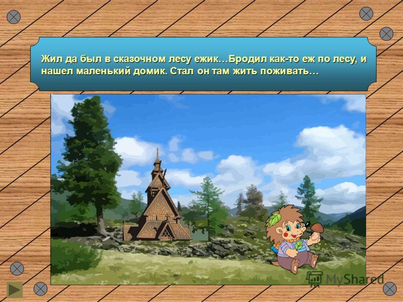 Жил да был в сказочном лесу ежик…Бродил как-то еж по лесу, и нашел маленький домик. Стал он там жить поживать…