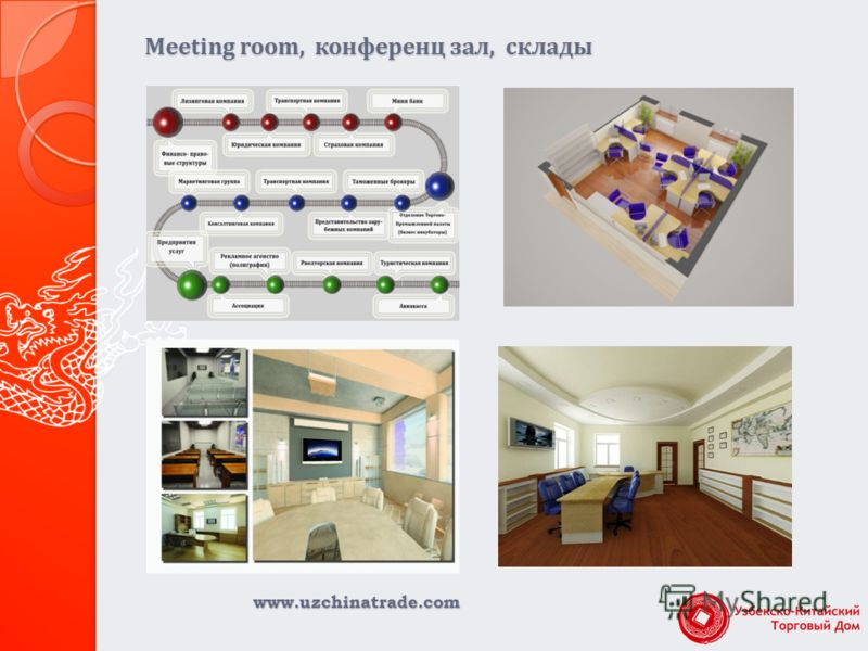 www.uzchinatrade.com Meeting room, конференц зал, склады