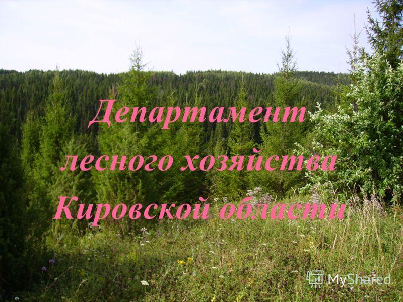 Департамент лесного хозяйства Кировской области
