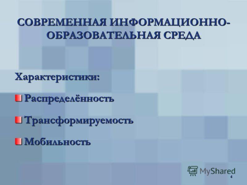 3 ИНФОРМАЦИОННО- ОБРАЗОВАТЕЛЬНАЯ СРЕДА Уровни (по И.Г. Захаровой): РесурсныйПредметныйИндивидуальный