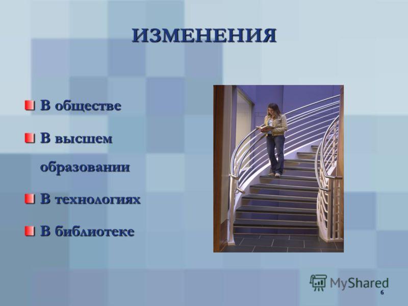 5 ФАКТОРЫ ДИНАМИКИ ИОС рост количества информационных ресурсов и их многоформатность интеллектуализация информационно- коммуникационных технологий (ИКТ) информатизация образования глобализация и виртуализация социальных процессов