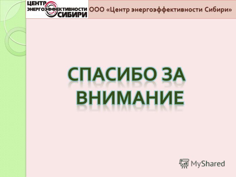 ООО « Центр энергоэффективности Сибири »