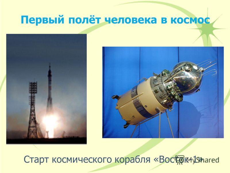 Первый полёт человека в космос Старт космического корабля «Восток-1»