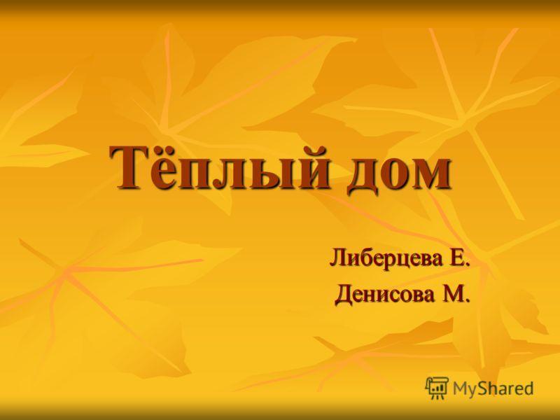 Тёплый дом Либерцева Е. Денисова М.