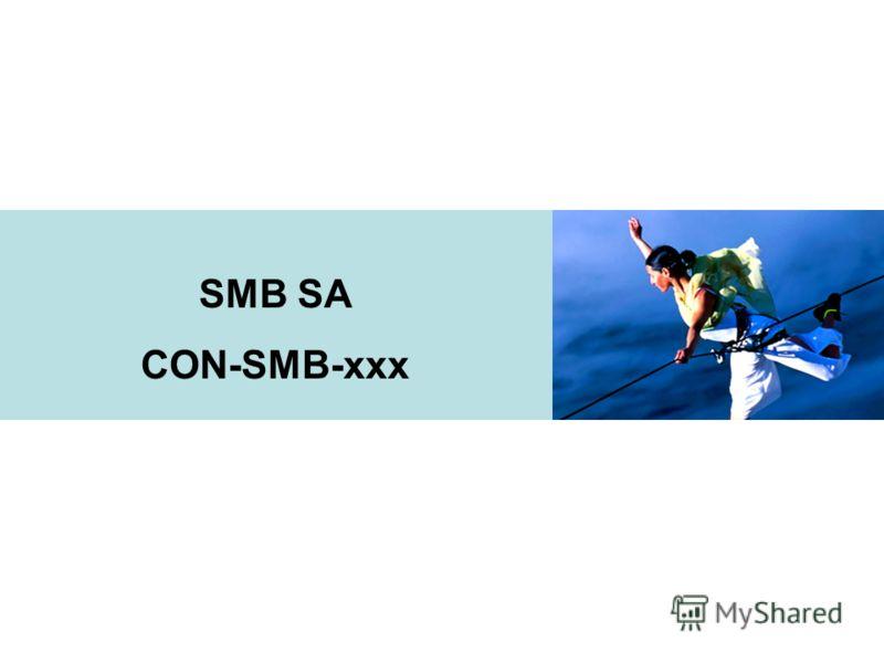 SMB SA CON-SMB-xxx