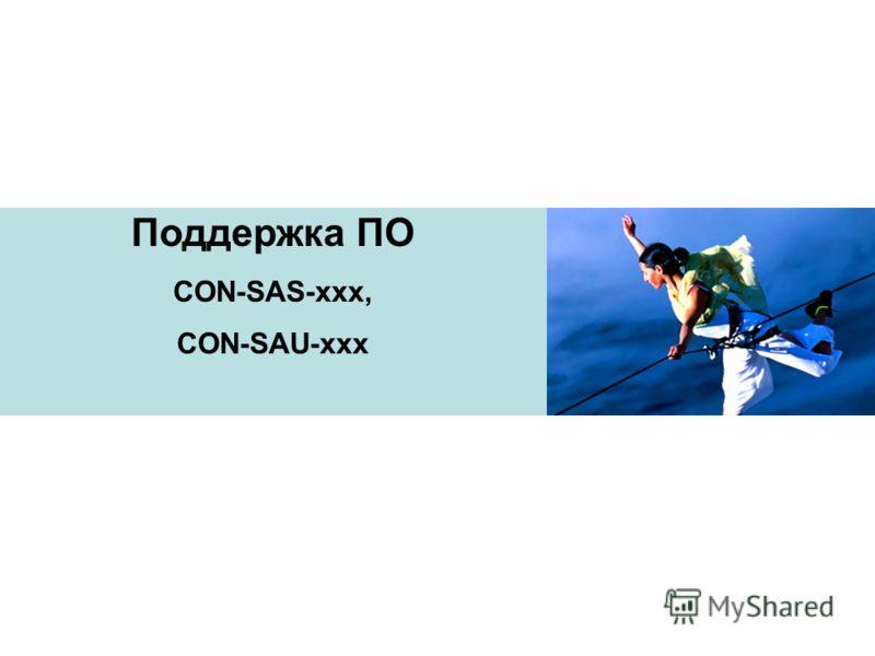 Поддержка ПО CON-SAS-xxx, CON-SAU-xxx