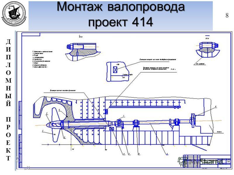 ДИПЛОМНЫЙПРОЕКТДИПЛОМНЫЙПРОЕКТ Монтаж валопровода проект 414 8