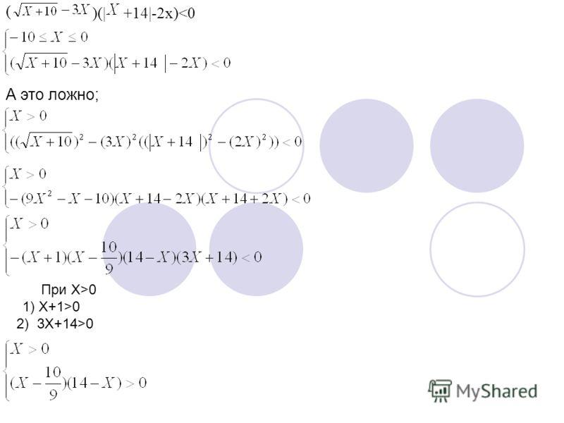 ( )(|+14|-2x)0 1) X+1>0 2) 3X+14>0