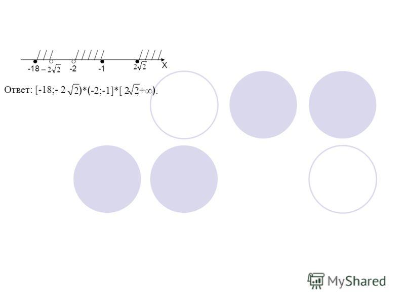 -18-2 2 X Ответ: [-18;- 2 * -2;-1]*[ 2;+.