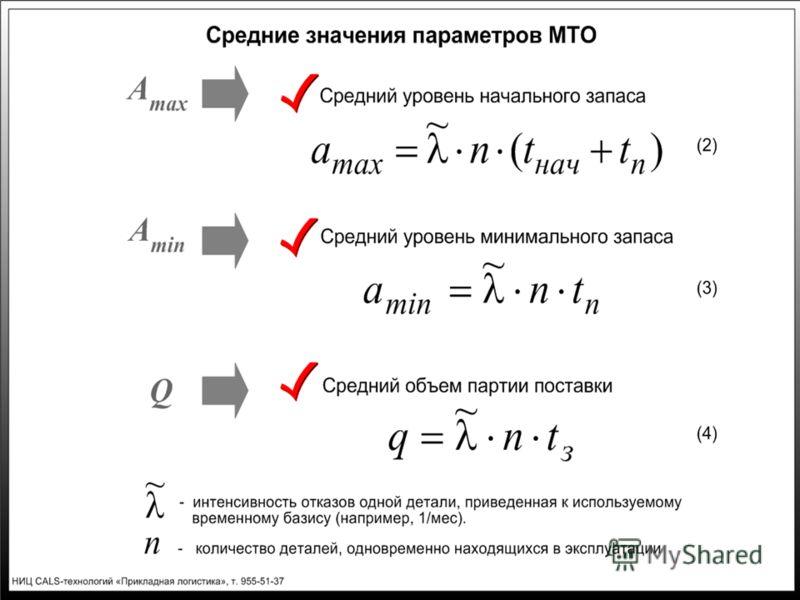 Слайд 4. Средние значения параметров МТО
