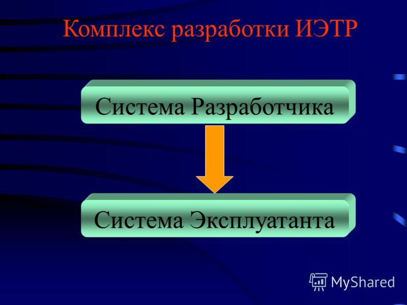 Комплекс разработки ИЭТР Система Разработчика Система Эксплуатанта
